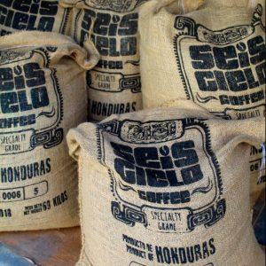 Seis Cielo coffee beans in sack